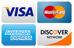 Mole Masters Accepts Visa, MasterCard, Discover and American Express