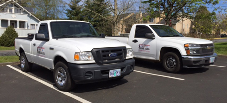 Mole Masters Truck Fleet to service the Portland, Oregon Metro area.